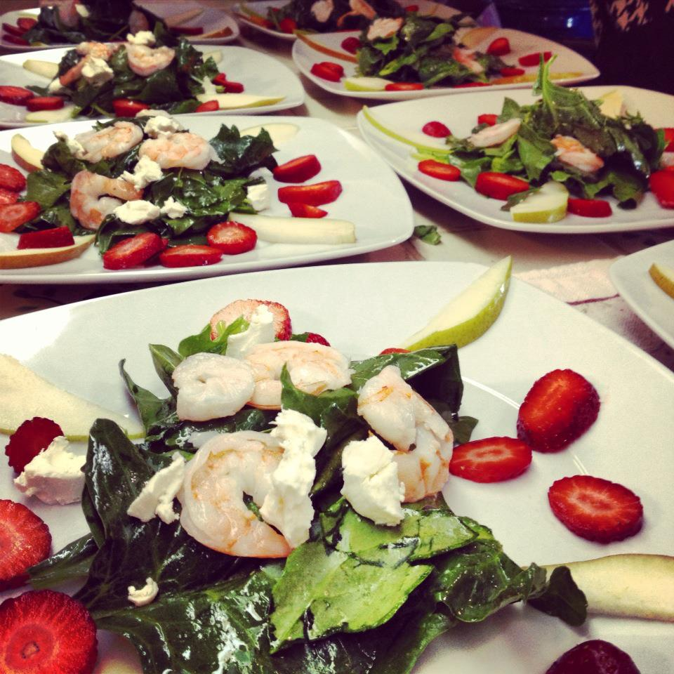 Spinach Shrimp Strawberry Salad